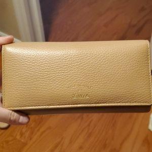 Gucci Beige Calfskin Continental Wallet